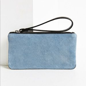 Urban Outfitters contrast suede wristlet / clutch